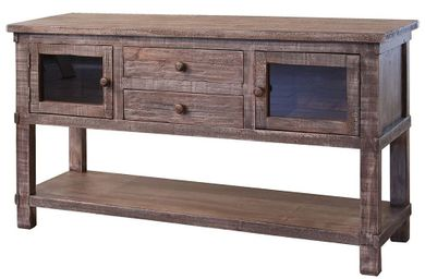 San Angelo Grey Sofa Table