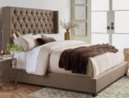 Westerly Brown Upholstered King Bed Set