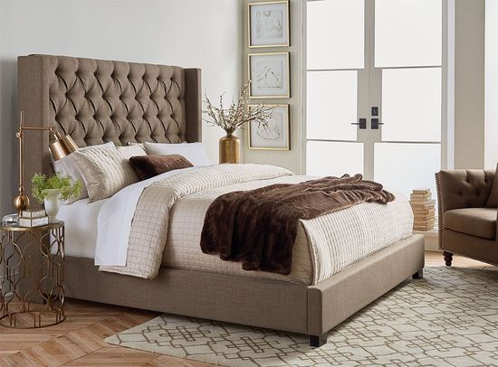 Picture of Westerly Brown Upholstered King Bed Set
