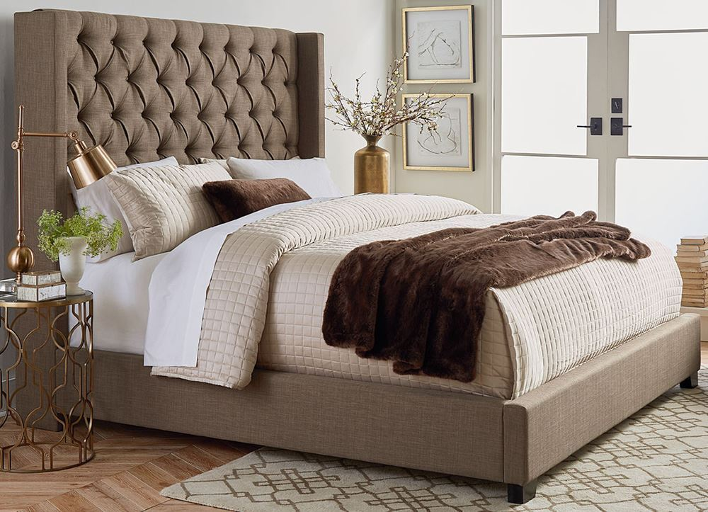 Picture of Westerly Brown Queen Upholstered Bed Set