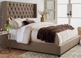Westerly Brown Queen Upholstered Bed Set