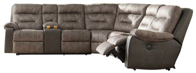 Hacklesbury Brown Four Piece Sectional