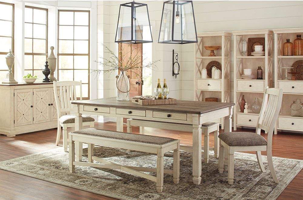 Picture of Bolanburg Table with Two Side Chairs, Two Arm Chairs, and One Bench