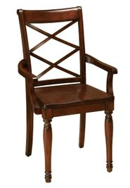 Cambridge Cherry Double X Back Arm Chair