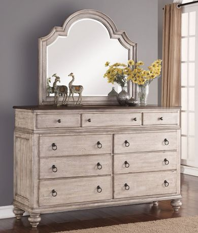 Plymouth Dresser and Mirror Set