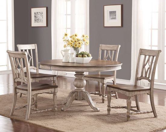 Picture of Plymouth Round Table with Four Side Chairs