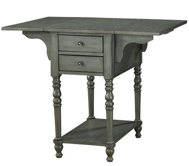 Sandals Grey Drop Leaf Two Drawer Table