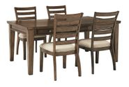 Flynnter Rectangular Table with Four Chairs