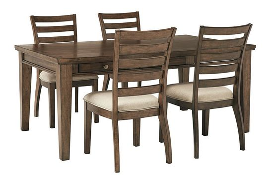 Picture of Flynnter Rectangular Table with Four Chairs