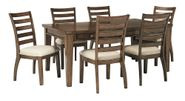 Flynnter Rectangular Table with Six Chairs