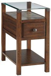 Diamenton Dark Brown Chairside Table