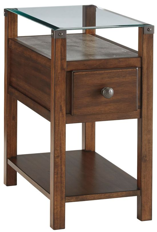 Picture of Diamenton Dark Brown Chairside Table