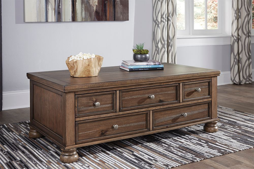Picture of Flynnter Cocktail Table with Storage