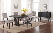 Aqua Dining Table with Six Chairs