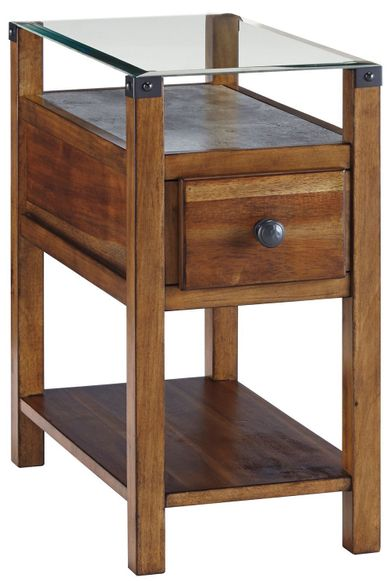 Diamenton Brown Chairside Table
