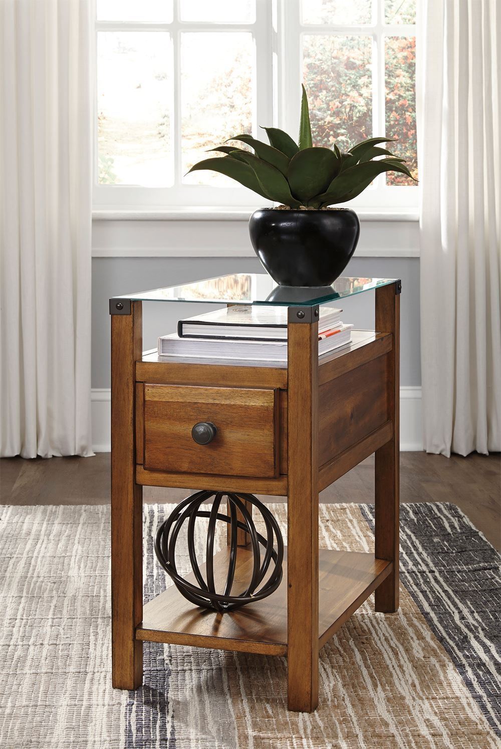 Picture of Diamenton Brown Chairside Table