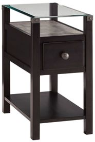 Diamenton Black Chariside End Table