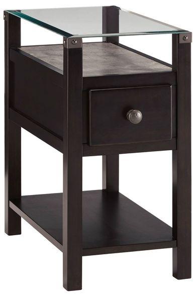 Diamenton Black Chariside End Table