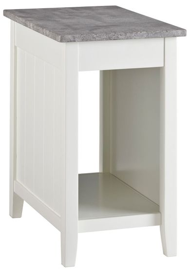 Diamenton White Chairside Table