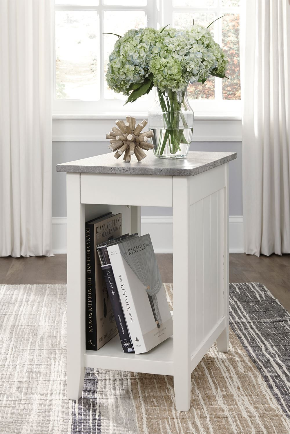 Picture of Diamenton White Chairside Table