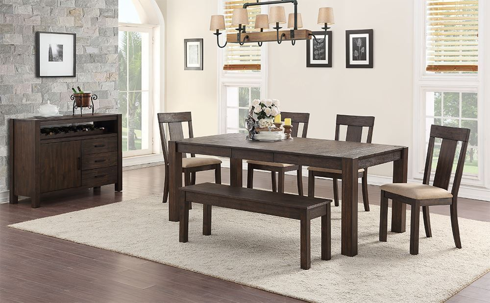 Picture of Andie Dining Table with Four Chairs and One Bench
