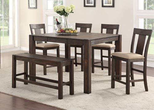 Picture of Andie Counter Table with Six Stools