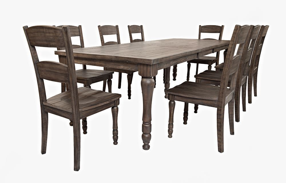 Picture Of Madison Barnwood Rectangular Table With Six Chairs
