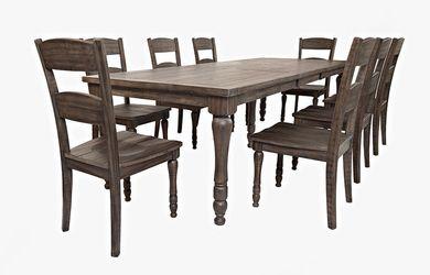 Madison Barnwood Rectangular Table with Six Chairs