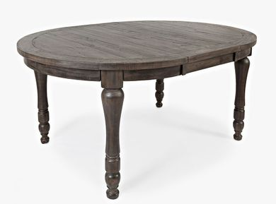 Madison Barnwood Round Leaf Table Only