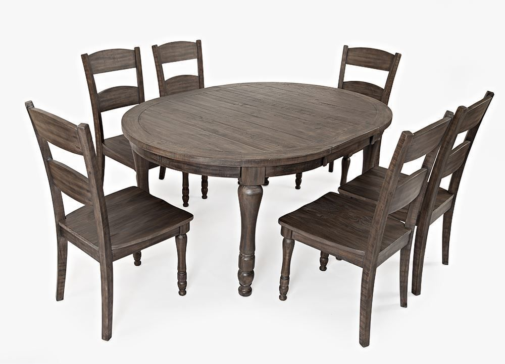 Picture of Madison Barnwood Round Leaf Table Only