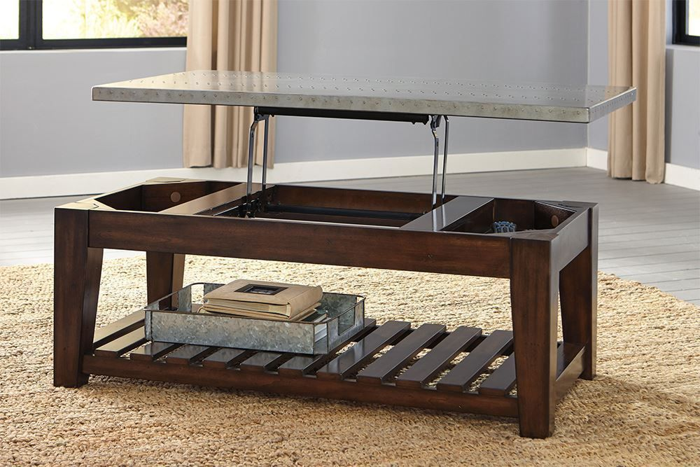 Picture of Bynderman Brown Lift Cocktail Table