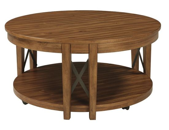 Picture of Emilander Light Brown Round Cocktail Table