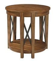 Emilander Light Brown Round Table
