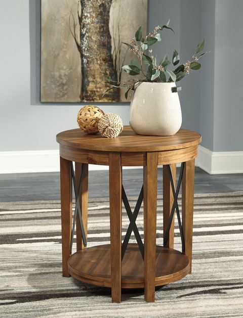 Picture of Emilander Light Brown Round Table