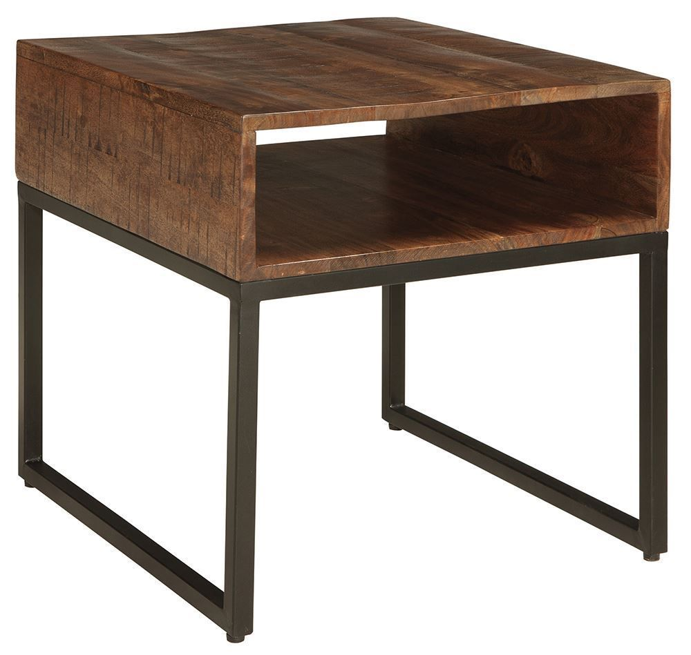 Picture of Hirvanton Gray-Brown Rectangular End Table