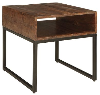 Hirvanton Gray-Brown Rectangular End Table