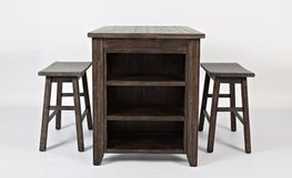 Madison Barnwood Three Piece Counter Set