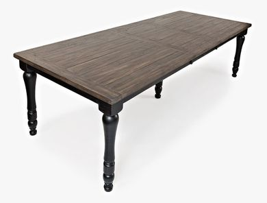 Madison Black Rectangular Extension Table Only