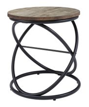 Charliburi Brown Round End Table