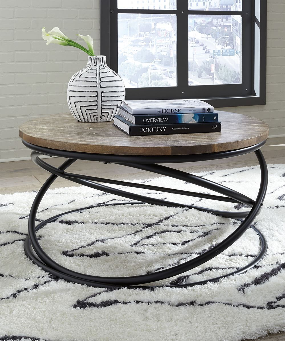 Picture of Charliburi Brown Round Cocktail Table