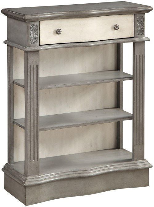 Picture of Huron Grey and Cream One Drawer Bookcase