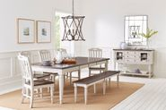 Orchard Park Extension Dining Table with Four Chairs and Bench