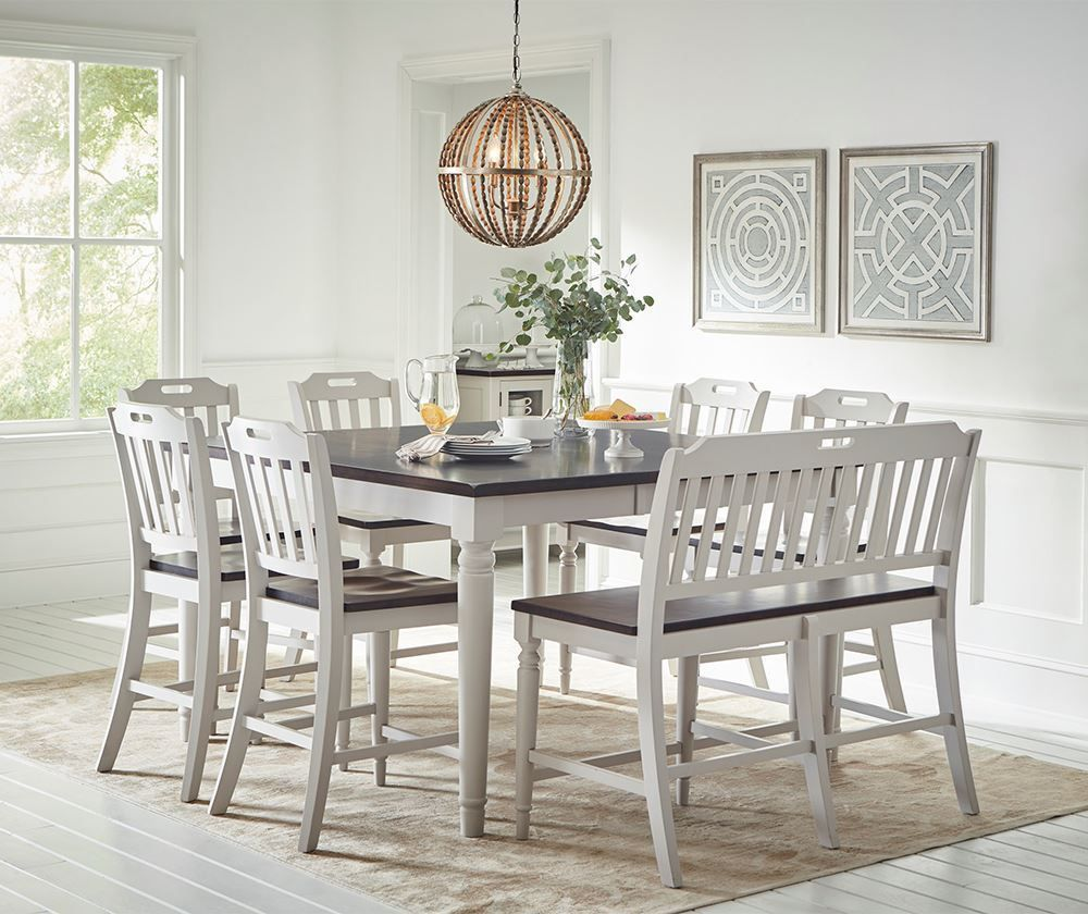 Picture of Orchard Park Counter Extension Table with Six Stools
