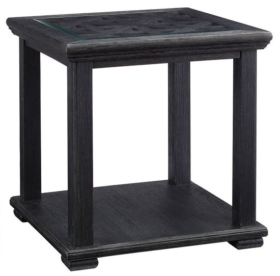 Picture of Tyler Creek Black Square End Table