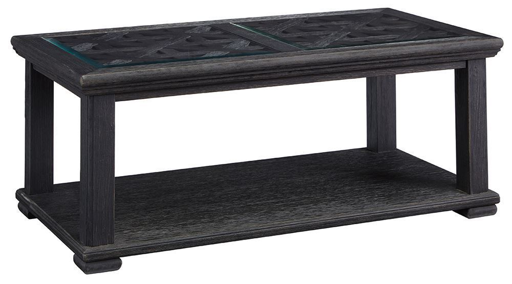 Picture of Tyler Creek Black Rectangular Cocktail Table