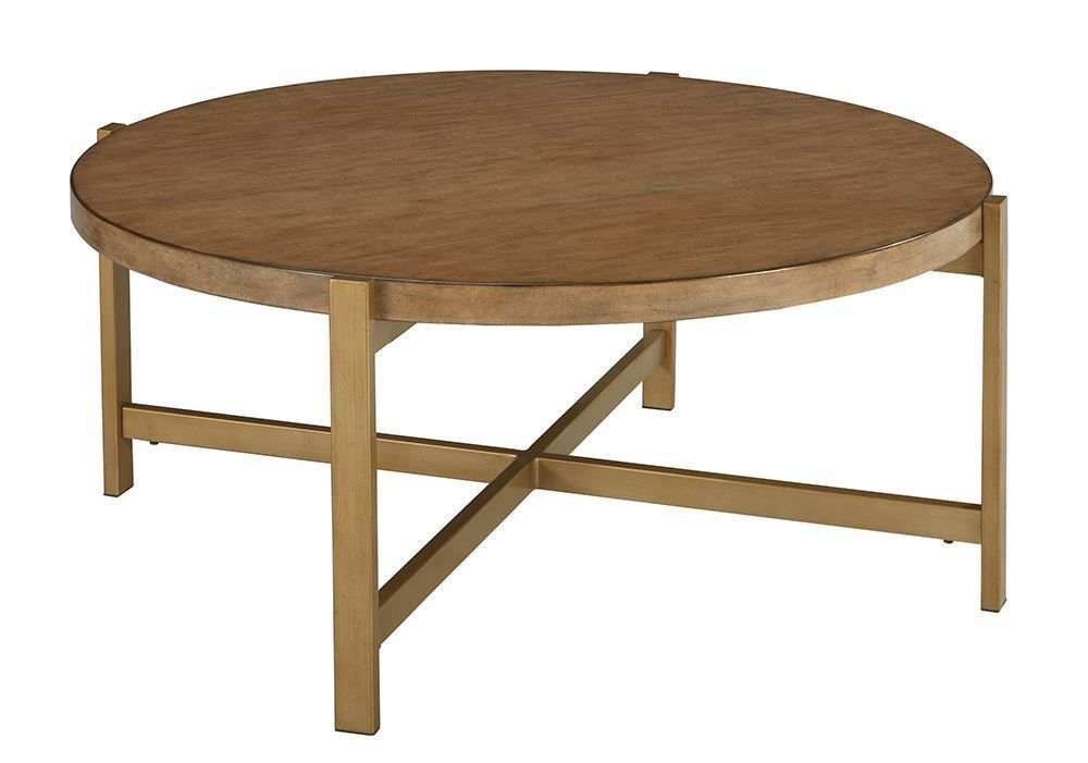 Picture of Franston Light Brown Round Cocktail Table
