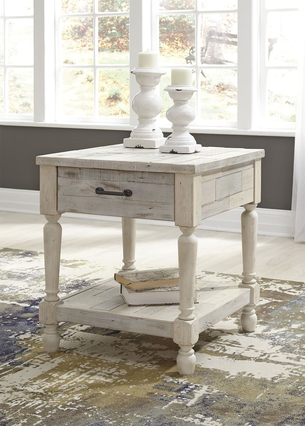 Picture of Shawnalore White Rectangular End Table