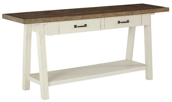 Picture of Stownbranner White-Brown Sofa Table