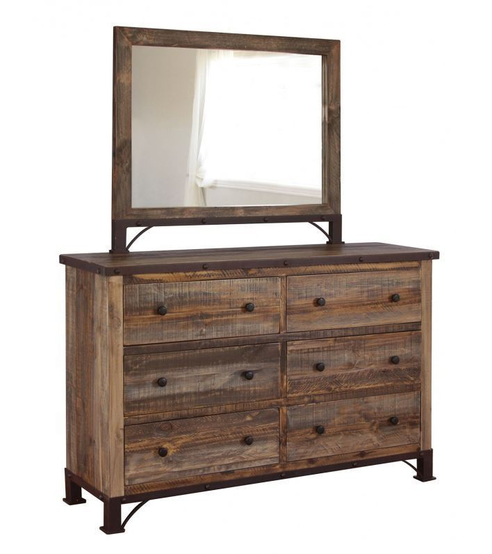 Picture of Antique Multi Dresser and Mirror