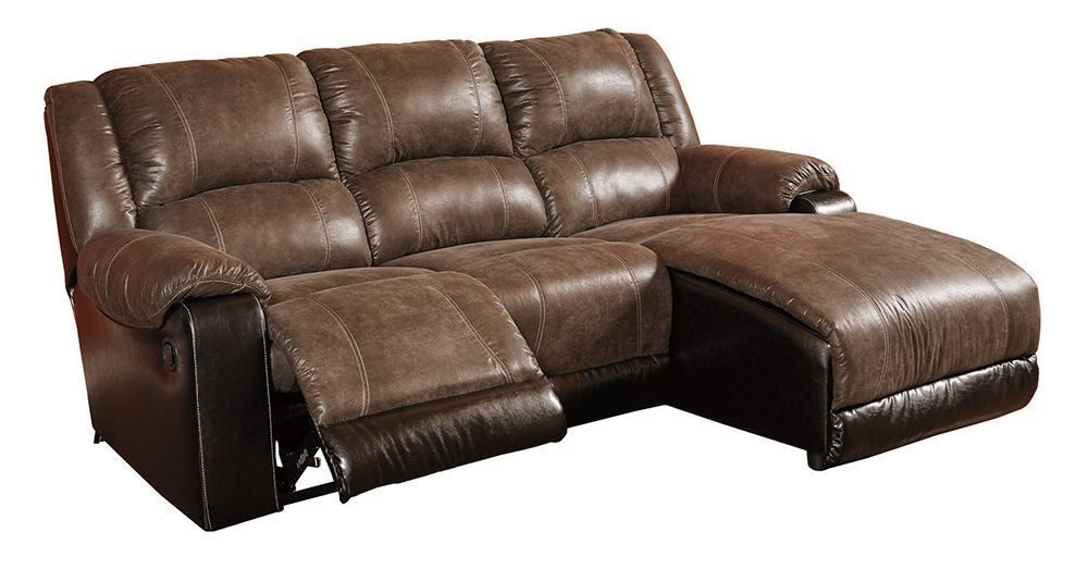 Picture of Nantahala Coffee Three Piece Chaise Sofa